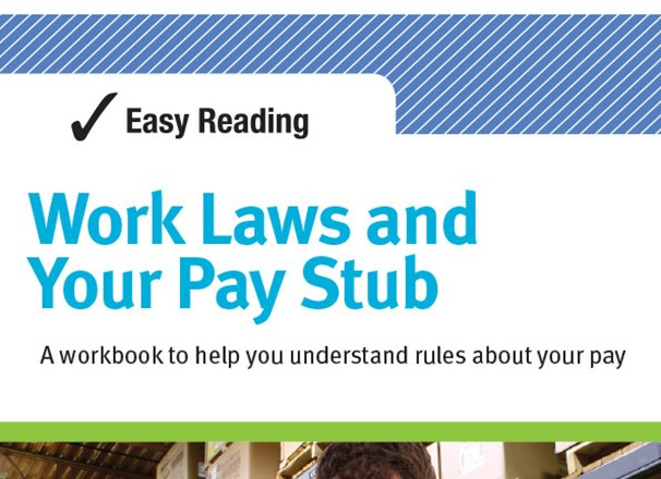 Easy Reading Work Laws and Your Pay Stub publication cover