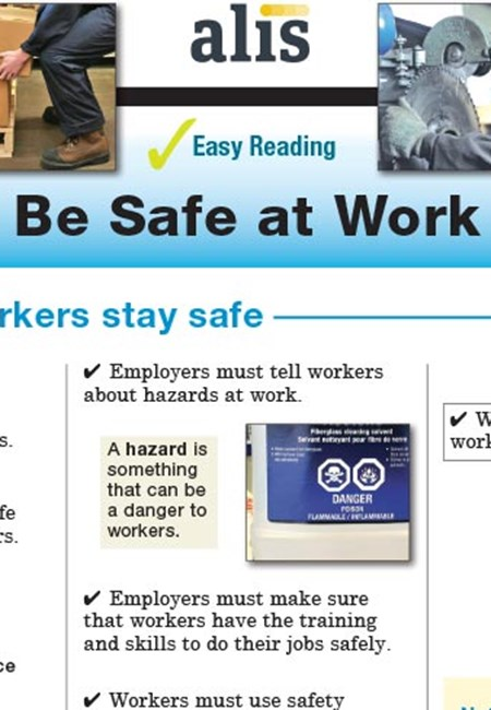 Easy Reading Be Safe at Work